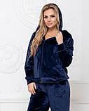 Женский теплый велюровый костюм, Размеры 50,52,54,56, 3 цвета, (Украина), фото 4