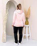 Женский теплый велюровый костюм, Размеры 50,52,54,56, 3 цвета, (Украина), фото 5