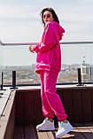 Женский теплый спортивный костюм на флисе разм S M L ХЛ, 2 цвета, (украина), фото 2