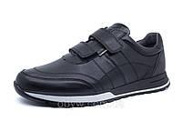 Мужские осенние кожаные кроссовки на липучках ZZ- 7