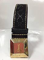Ремень в стиле GUCCI черный лаковый натуральный женский, фото 1