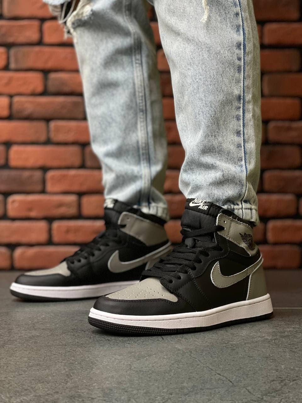 Чоловічі кросівки Nike Air Jordan High S Black/D. Gray (чорні) А1269 модні високі кроси