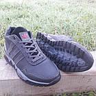 Кросівки чоловічі зимові Adidas р. 40 шкіра Харків чорні, фото 3