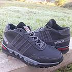 Кросівки чоловічі зимові Adidas р. 40 шкіра Харків чорні, фото 5