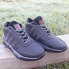 Кросівки чоловічі зимові Adidas р. 40 шкіра Харків чорні, фото 2