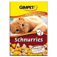 Gimpet Schnurries витамины для кошек  с таурином и курицей( 650 шт).