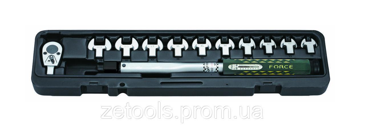 Ключ динамометричний зі змінними насадками ріжкового типу 13 пр. (10-60 Нм) Force 64714 F
