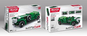 Конструктор ретро автомобиль ретромобиль IBLOCK инерционный механизм МЕГАCAR