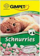 Gimpet Schnurries витамины для кошек  с таурином и ягненком( 650 шт)