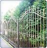 Забор кованный металлический