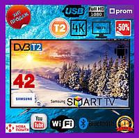 Телевизор Samsung (репліка) Smart tv 42 дюйма UHD 4K Android 9.0 WIFI T2 телевізор Самсунг Смарт ТВ