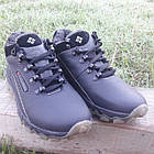 Кросівки чоловічі зимові Columbia р. 40 шкіра Харків чорні, фото 2