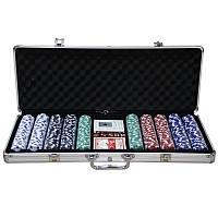Покер - алюминиевый кейс 58x23x8 - 500 фишек для профессионалов