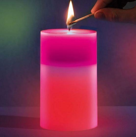Восковые свечи Mood Magic - с настоящим пламенем и встроенной подсветкой, меняющей цвет RGB