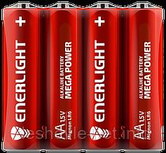 Батарейка ENERLIGHT MEGA POWER AA FOL 4