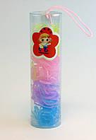 Резинка для волос силиконовая в колбах-12 колб