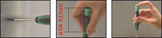 Отвертка с плоским наконечником 1PK-081-S7, фото 2