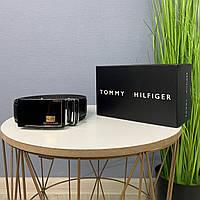 Мужской ремень Tommy Hilfiger, ремень на пояс автомат, брендовый качественный ремень на подарок, из эко кожи