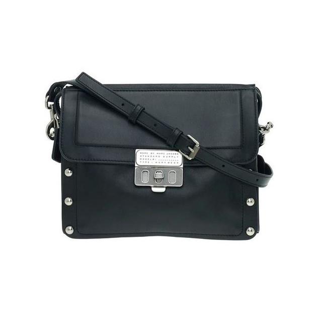 Сумочка Marc Jacobs Espionage 25 | вид спереди. Цвет черный.