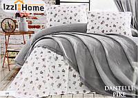 Покривало-плед ISSI HOME 220х240 бавовна Dantel сірий, фото 1