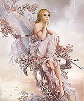 Алмазна мозаїка вишивка Квіткова фея 50х60см DM-136 Повна зашивання. Набір алмазної вишивки