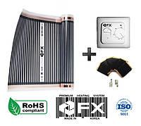 Акция!13м2(2,86кВт) Инфракрасный Теплый пол Felix FX Корея+Терморегулятор Термопленка под линолеум, фото 1