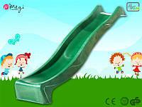 Горка для детской площадки 2,2 м KBT (Зеленая)