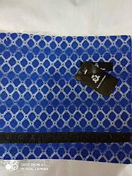 Чоловічий Шарф Roberto Gabanni візерунок-012соти  синьо-блакитний