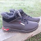 Кросівки чоловічі зимові Adidas р. 41 шкіра Харків коричневі, фото 2