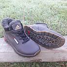 Кросівки чоловічі зимові Adidas р. 41 шкіра Харків коричневі, фото 4