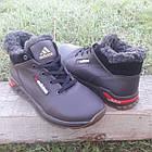 Кросівки чоловічі зимові Adidas р. 41 шкіра Харків коричневі, фото 5