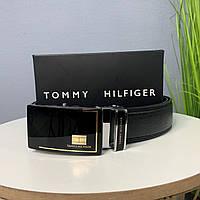 Мужской ремень Tommy Hilfiger, ремень на пояс автомат, из эко кожи, брендовый качественный ремень на подарок