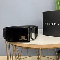 Мужской ремень Tommy Hilfiger, брендовый качественный ремень на подарок, из эко кожи, ремень на пояс автомат