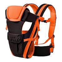 Сумка-кенгуру SUNROZ BP-14 Baby Carrier рюкзак для переноски ребенка Черно-Оранжевый SUN0978 SC, КОД: 146371