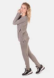 Женский утепленный костюм свободного кроя из ангоры (кофта ,штаны)