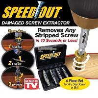 Набор насадок для выкручивания поврежденных саморезов, шурупов Speed Out Лучшее качество