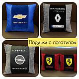 Автомобильные подушки с вышивкой логотипа, автоаксессуары в авто, фото 4