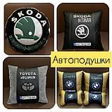 Автомобильные подушки с вышивкой логотипа, автоаксессуары в авто, фото 7