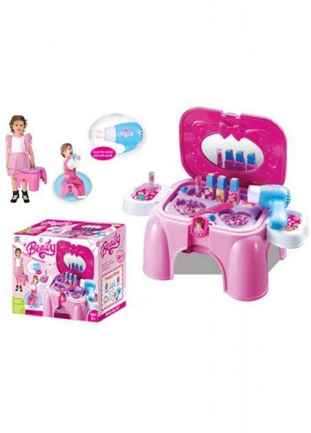 Набор парикмахера детский игрушечный. Стульчик-чемодан Маленькая принцесса