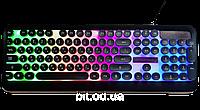 Дротова клавіатура з підсвічуванням веселка Retro Classic USB Promotech M300 Найкраща якість
