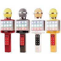 Bluetooth Мікрофон-Караоке Wster WS-1828 зі світломузикою Найкраща якість