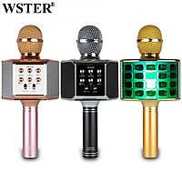 Колонка з функцією Караоке Мікрофона Wster WS-868 (USB, microSD, AUX, Bluetooth, REC, 4-Voice) Найкраща якість