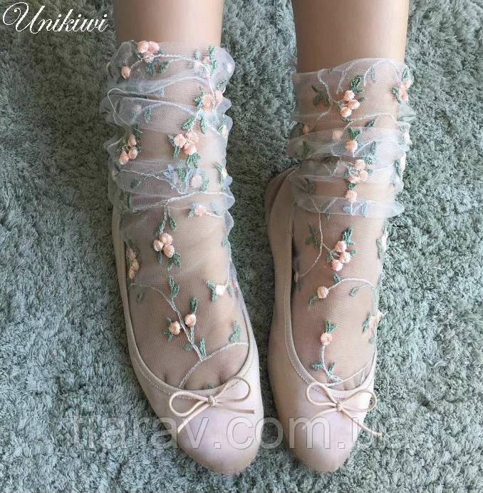 Носки модные женские капроновые, стильные носочки