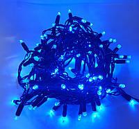 Вулична новорічна світлодіодна гірлянда 2.5 Line 100B-U синя 100Led 10 м, прозорий провід Найкраща якість