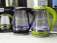 Скляний електричний чайник Rainberg RB-701, 1,8 літра, 2200Вт Найкраща якість
