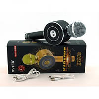 Караоке-мікрофон WSTER WS-668 (Bluetooth / USB / MicroSD / AUX / FM) Найкраща якість