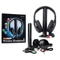 Беспроводные наушники с Микрофоном MH2001 5 в 1 + FM радио DC-2001 Лучшее качество