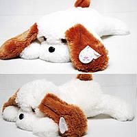 Плюшевая игрушка собачка - лежачий Тузик, размер - 65 см. Популярная игрушка. Красивая игрушка. Код: КЕ445-1