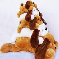 Плюшевая игрушка собачка - лежачий Тузик, размер - 150 см. Популярная игрушка. Красивая игрушка. Код: КЕ445-3
