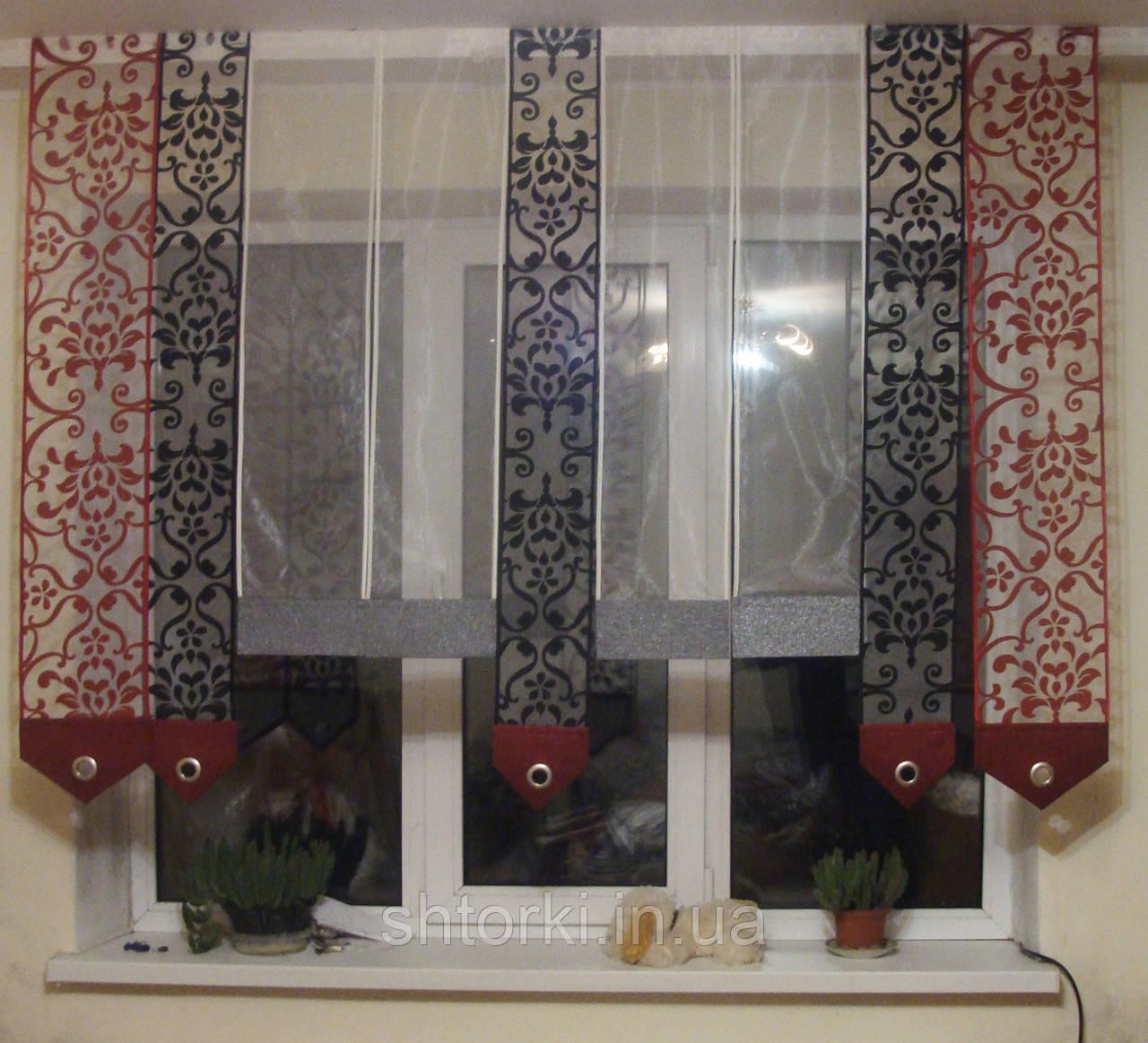 Японские панельки Черно-красные